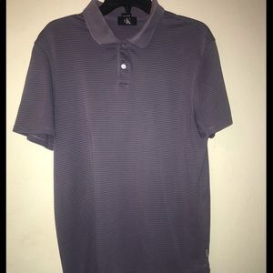 Calvin Klein Men's Stripped Polo Shirt